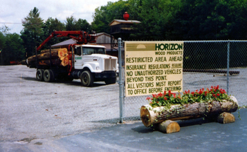 Horizon Wood facility entry gate in the early years