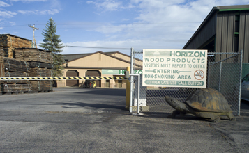 Horizon Wood facility entry gate