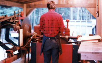 George in the shingle mill