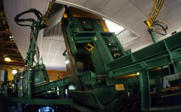 Sawmill inside fresh installation