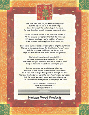Christmas poem for 2003