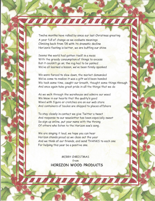 Christmas poem for 2009