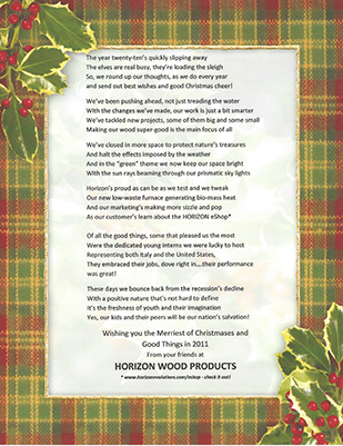 Christmas poem for 2010