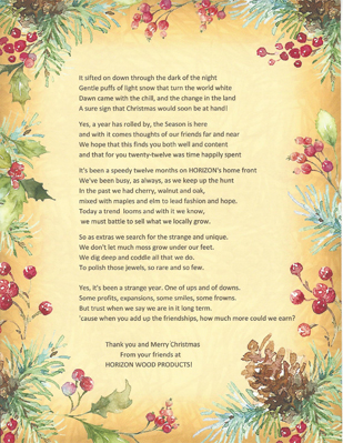 Christmas poem for 2012