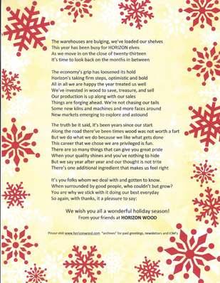 Christmas poem for 2013