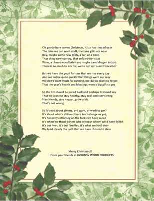 Christmas poem for 2014
