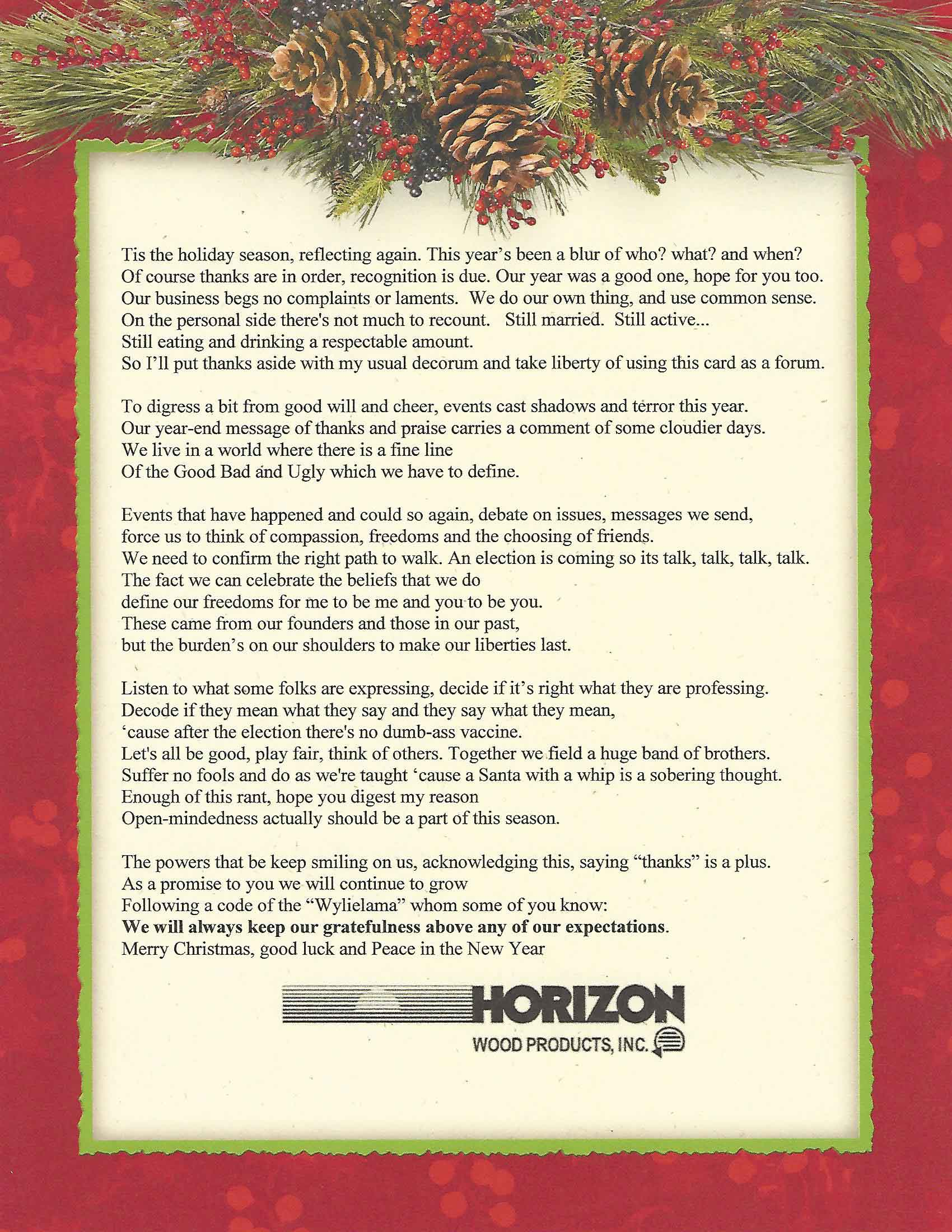 Christmas poem for 2015
