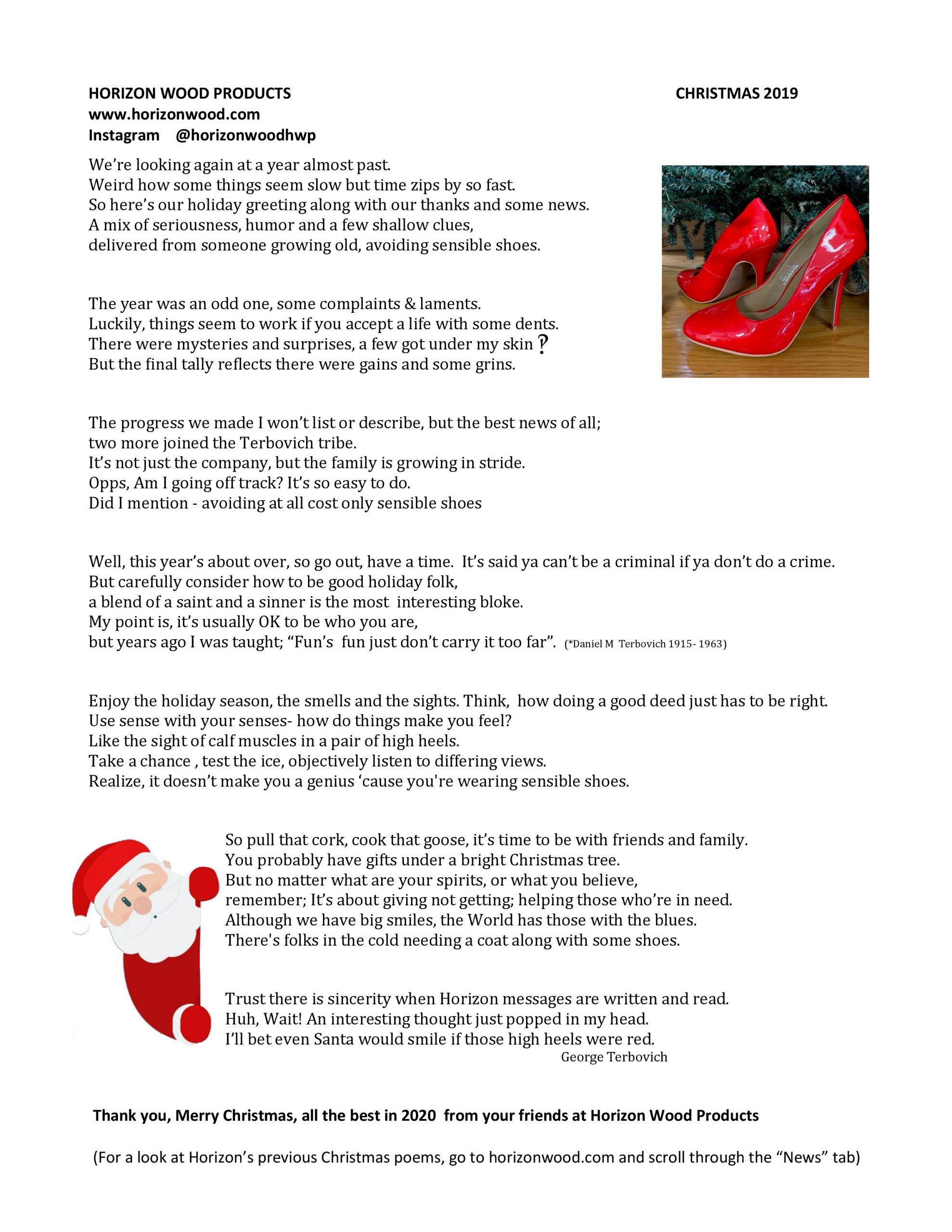 Image of Christmas poem text